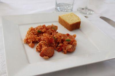 Volta ao Mundo Restaurante: Jambalaya (arroz com linguiça e frango da Louisiana)