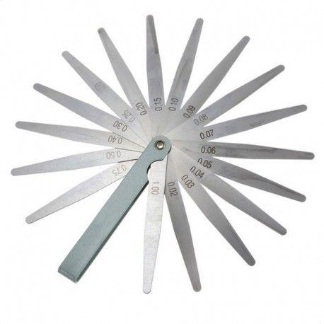 Søgerblad måleområde 0,02mm - 1mm Udført i Carbon stål  Kan nemt klappes sammen