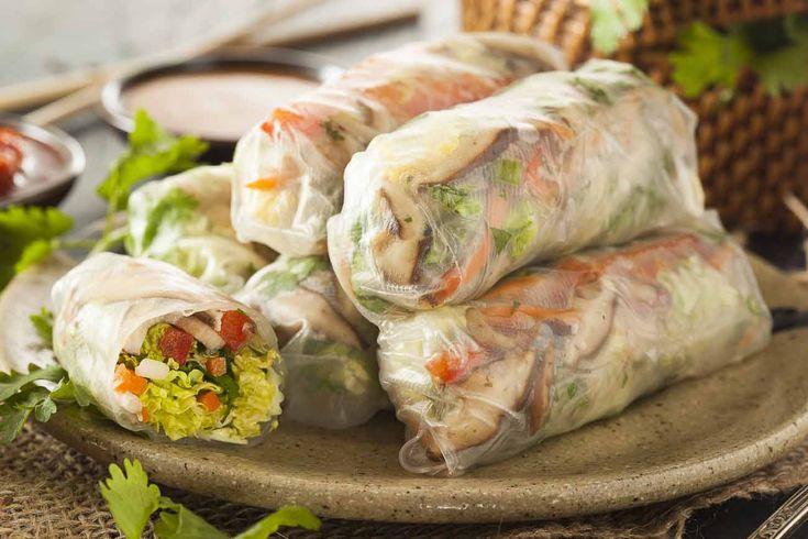 Vietnamese Vegetarian Spring Rolls Recipe With Mushrooms & Vegetables