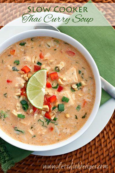 Slow Cooker Thai Curry Soup on MyRecipeMagic.com