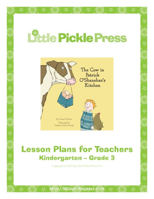 The Cow in Patrick O'Shanahan's Kitchen Lesson Plans, based on the picture book written by Diana Prichard, explores the origins of the food we consume on a daily basis and the instrumental role that farms and farmers play in providing food for the community. Download our The Cow in Patrick O'Shanahan's Kitchen Lesson Plans now.  (Ages 4-8)
