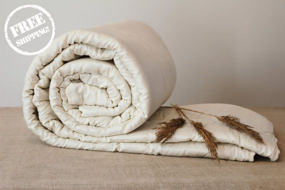 KING COMFORTER, perfect comfort, all seasons, wool filled, natural, handmade duvet, eco friendly organic bedding, wool batting blanket