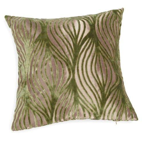 Cuscino verde/dorato 45 x 45 cm BRIANNA