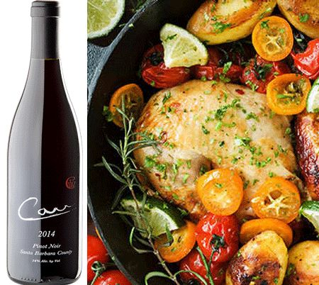 Oven-Roasted Kumquat Chicken - Carr Vineyards and Winery