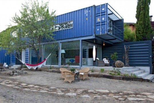 James & Mau Builds a Modern Blue Home from Four Shipping Containers | Inhabitat - Sustainable Design Innovation, Eco Architecture, Green Building