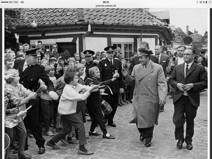 Yuri Gagarin in Odense i 1962