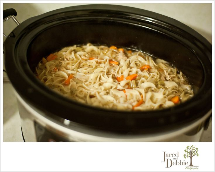 Crockpot Chicken Noodle Soup. Cold Weather Yumminess!