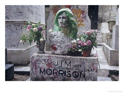 Smoking atop Jim Morrison's grave at Pere Lachaise, wearing Birkenstocks ... seems a million years ago... :)