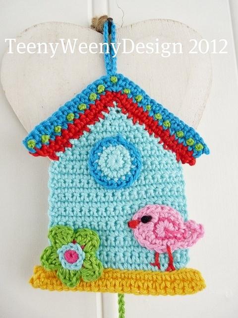 Crochet house hanging