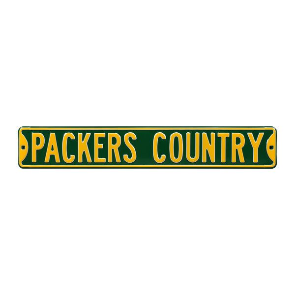 """Green Bay Packers Country 6"""" x 36"""" Steel Street Sign - Green - $44.99"""