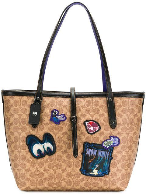61aa77f01e7 Coach Snow White patch tote bag