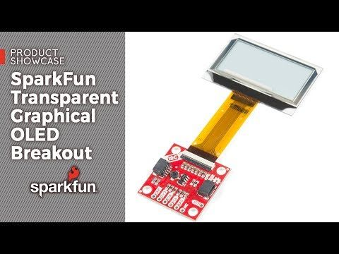 The SparkFun Qwiic Transparent Graphical OLED Breakout