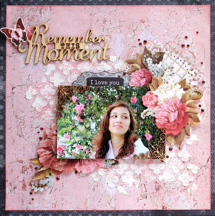 """Remember This Moment - Kaisercraft DT using new """"Ma Cherie"""" Collection.  http://cathycafun.blogspot.com.au/2015/10/kaisercraft-dt-more-october-creations.html  http://www.kaisercraft.com.au/blog/"""
