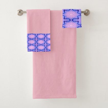 Waterfall Stars Pink Towel Set - photography gifts diy custom unique special