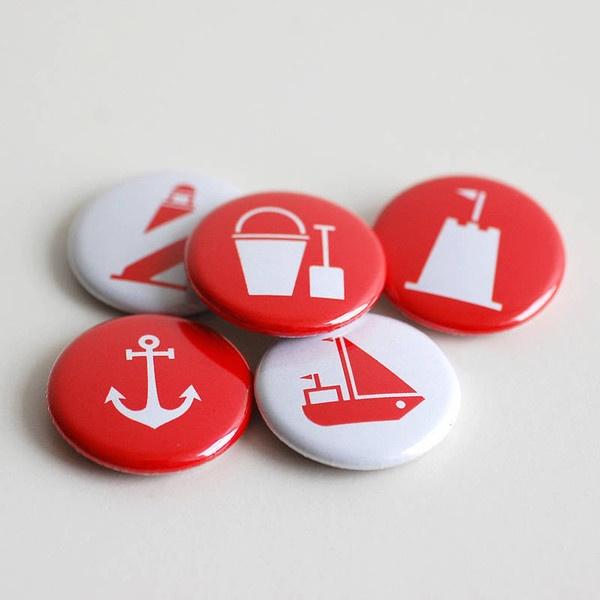 Set of Five Nautical Badges — Polar