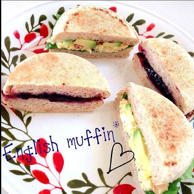 TanTan's dish photo イングリッシュマフィン | http://snapdish.co #SnapDish #レシピ #お昼ご飯 #サンドイッチ #ハンバーガー #簡単料理