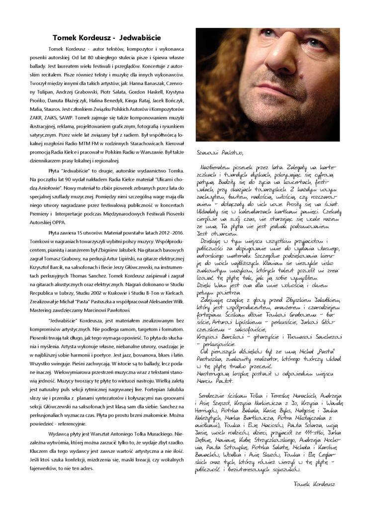 Recital Tomek Kordeusz - info, 15.10.2017 r.