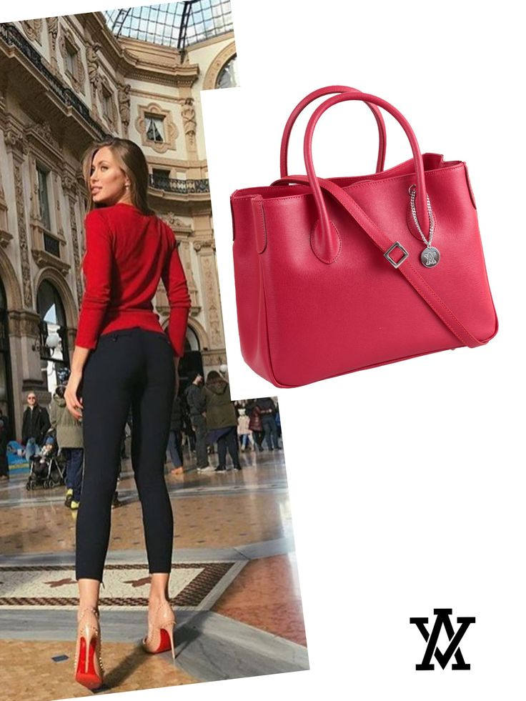 Italian leather handbags  Code: MILANO red shoponline➡️www.adelevian.com