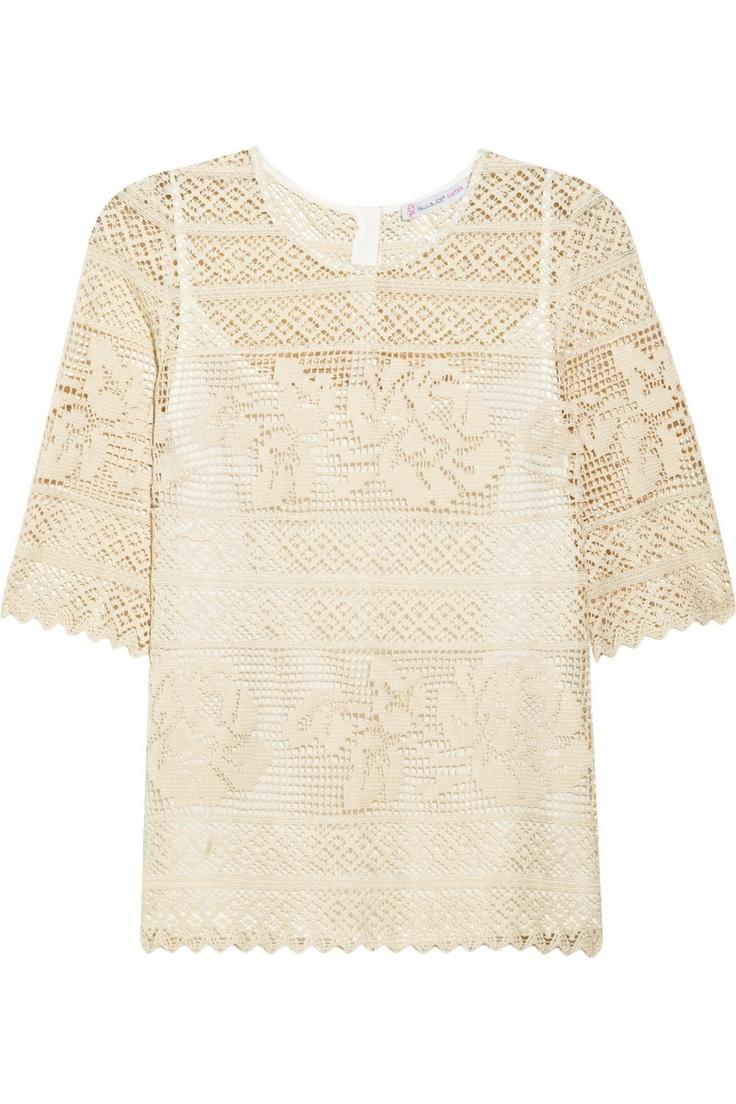 Paul & Joe Sister|Bailleul crocheted cotton top|NET-A-PORTER.COM