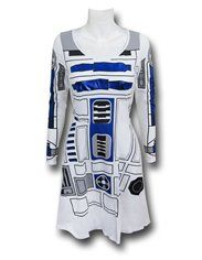 Star Wars R2D2 Long Sleeve Women's Skater Dress