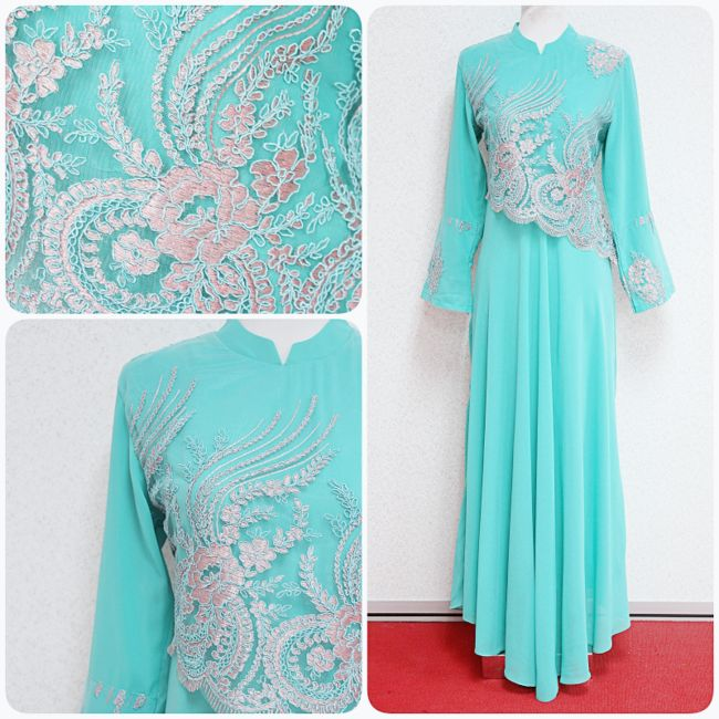 Jubah Azalea, only RM190. Available in mint green, soft grey and light pink. International shipping is available! :)