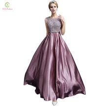 Vestido de noite longo 2017 ssyfashion luxo laço de cetim banquete vestido formal plus size vestido de noiva elegante prom vestidos robe de soiree(China (Mainland))