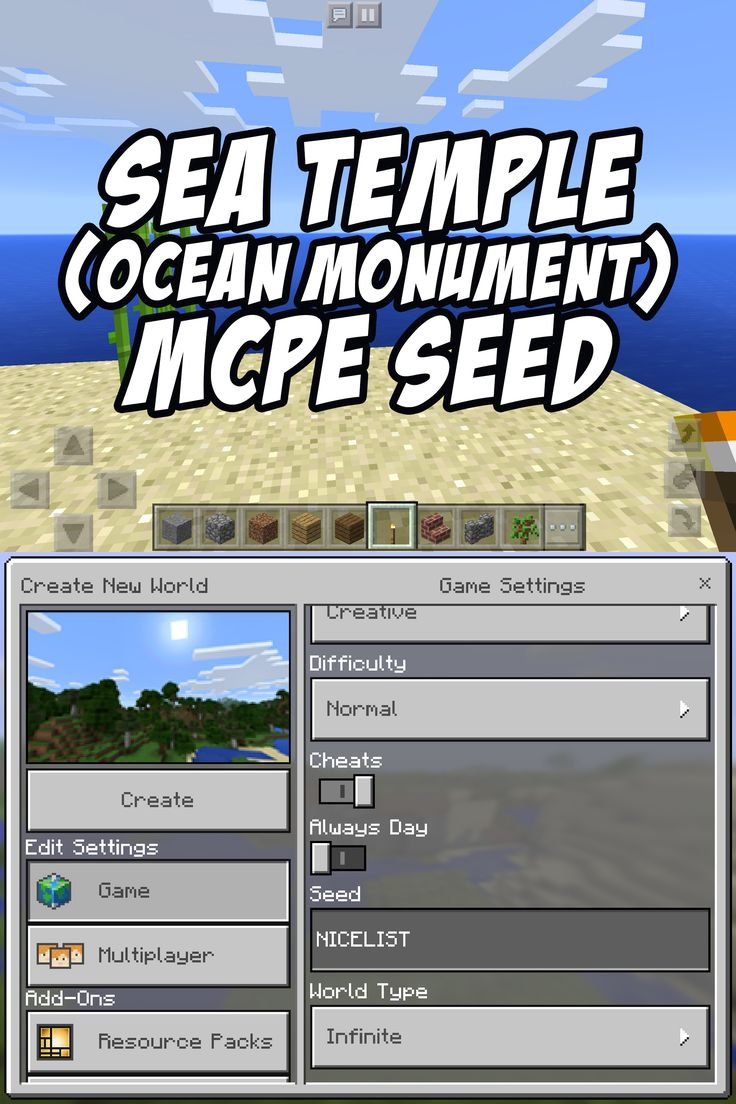 Ocean Monument Sea Temple Seed for Minecraft Pocket Edition  NICELIST. 25  unique Minecraft temple ideas on Pinterest   Cool minecraft