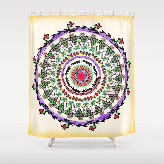 Rustic shower curtain, Lavender shower curtain, boho shower curtain, mandala bathroom decor, bathroom shower curtains, fabric shower curtain by Famenxt on Etsy https://www.etsy.com/listing/253684542/rustic-shower-curtain-lavender-shower