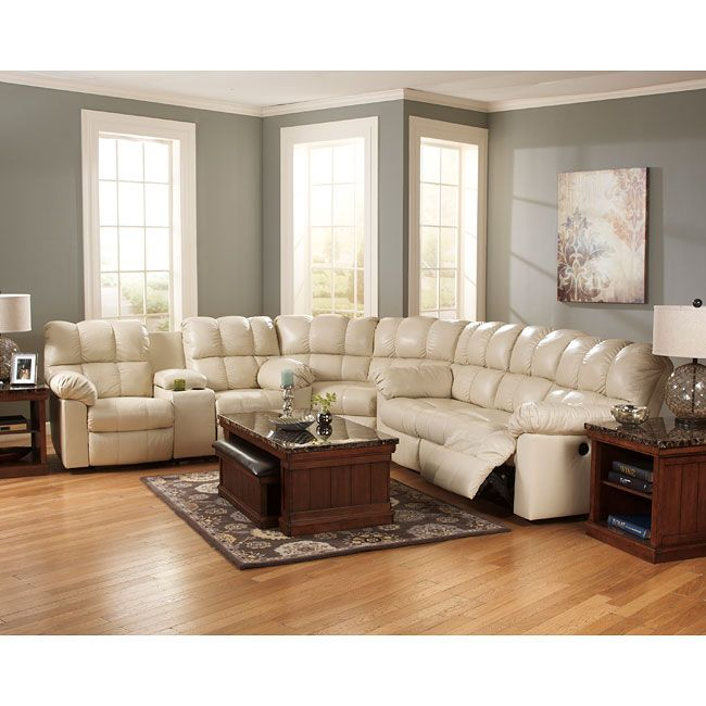The Kennard   Cream Living Room Power Sectional Collection By Signature  Design By Ashley Furniture Takes Stylish Contemporary Design And Combines  The ...