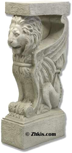 Winged Lion Table End Statue   Lion Statue Table Base Beautiful And Elegant  With His Wings