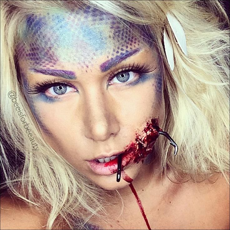 hooked sfx mermaid halloween makeup tutorial