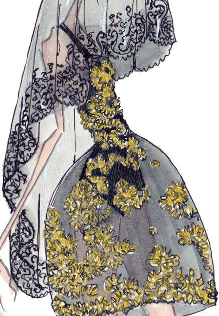 "J. Larkowsky illustration   ""If it's not Baroque..."": Dolce  Gabbana Fall 2012"