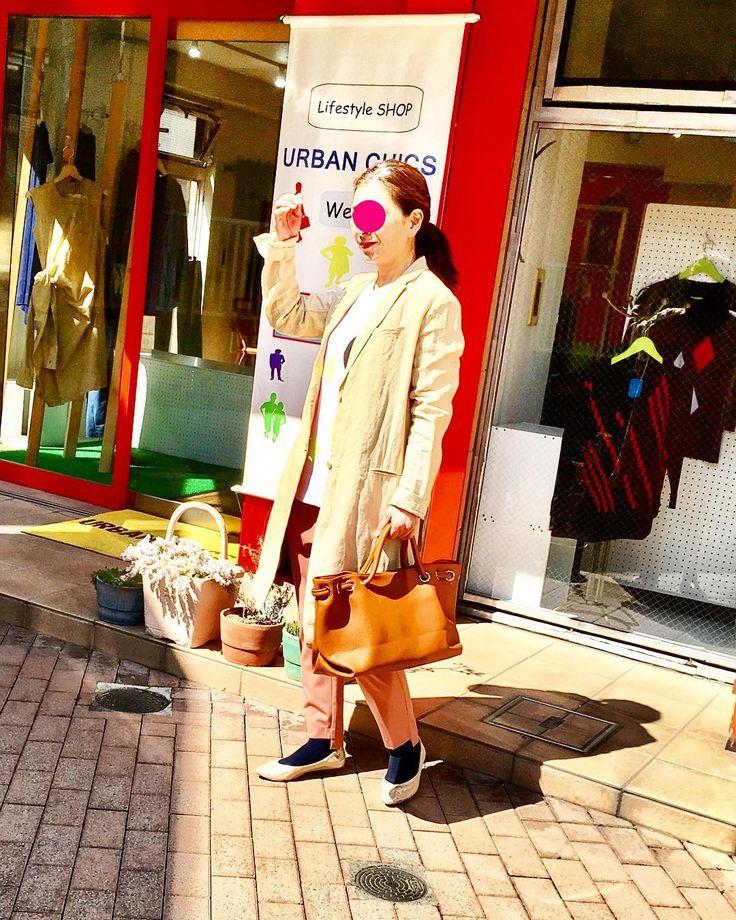 ちょっと そこまでお出かけ したくなる #2017fashion #spring #coordinate #tokyostyle #knitwear #tokyo #japan #urbanchics #urbanstyle #アラフォー #アラフォーコーデ #アラフィフ #アラフィフコーデ #アラフィフライフ #東京 #調布市#国領#アーバンチックス #ニットブランド #布博