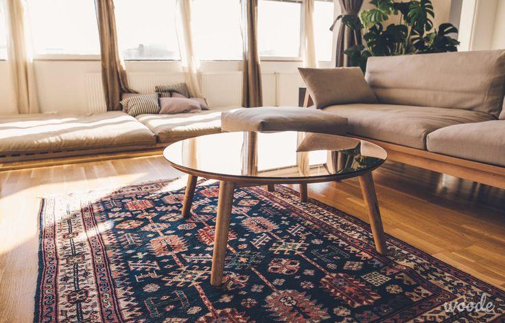 Copper mirror coffee table