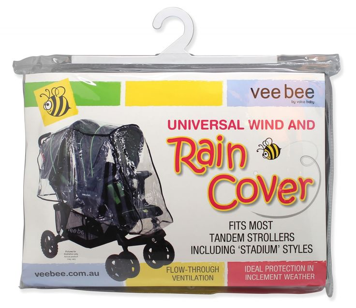 JB: Tandem pram rain cover [Made of heavy gauge PVC, these universal fit Wind and Rain Covers ensure that your daily strolls won't be subject to the elements. The transparent protects your little one from inclement weather, but still allows air to freely circulate. Easy to clean, the Wind and Rain Covers can be secured to your pram or stroller through a combination of fastenings, to ensure a tailored fit. The Universal Wind and Rain Covers come in a number of models to ensure a...]