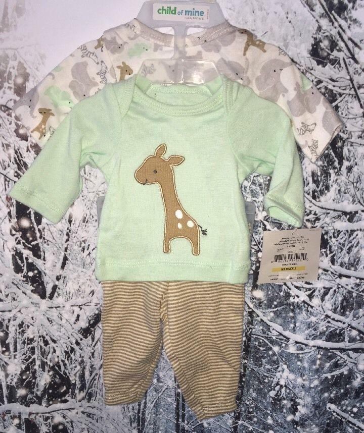 Child of Mine Carters Unisex Boy Girl Preemie 3 PC Set New Baby Zoo Animals   eBay