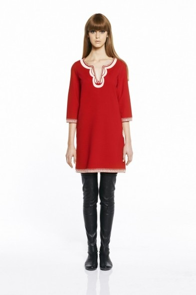 collette by Collette Dinnigan Red Mod Embroidered Kaftan