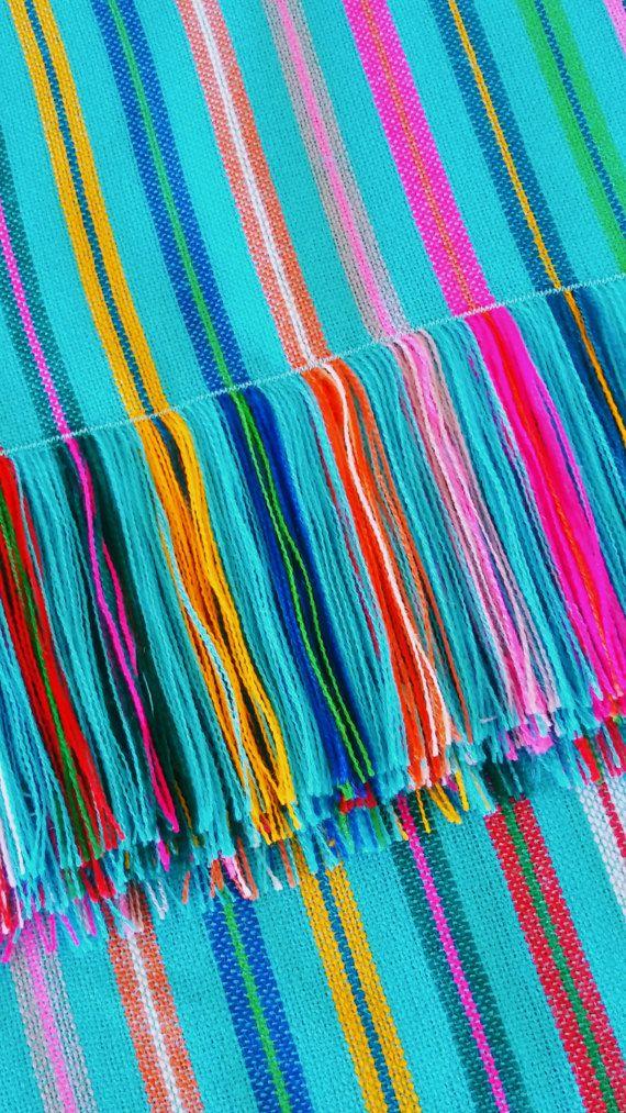 Mexikanischer Rebozo mexikanischen Stoff Aztec Stoff by MXArtsCrafts | Etsy