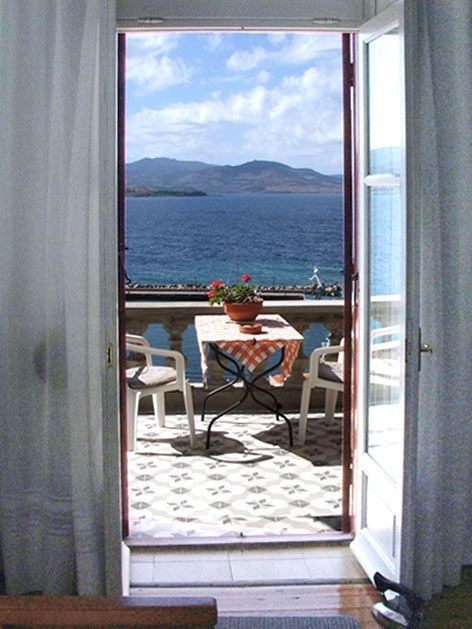 Window to Aegean Sea, by Villa Molova, Molyvos, Lesvos, Greece