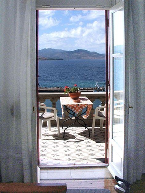 Window to Aegean Sea, by Villa Molova, Molyvos, Lesvos, Greece