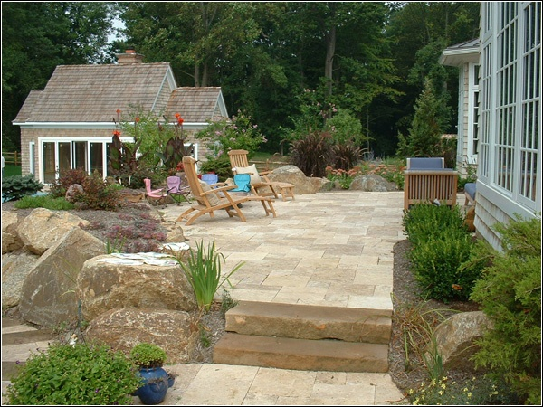 15 best Travertine patios images on Pinterest | Travertine ... on Travertine Patio Ideas id=93160