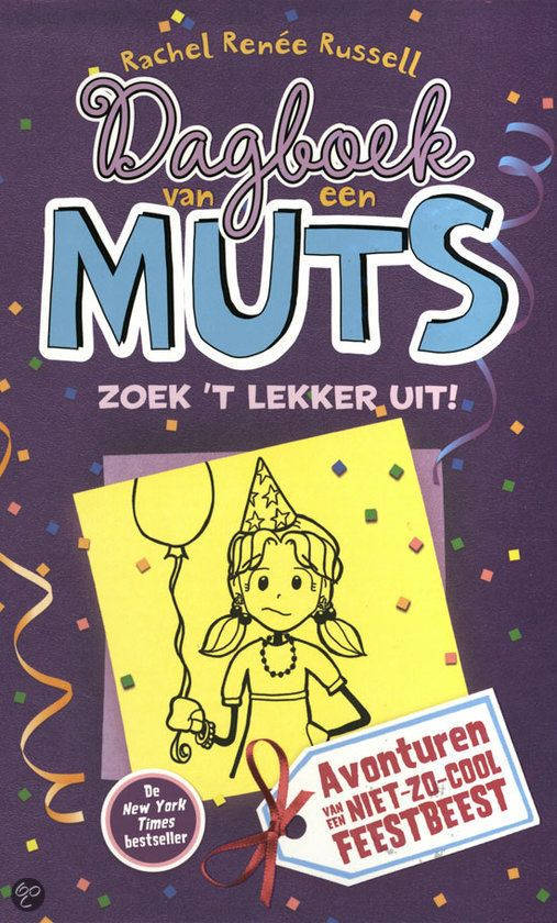 Rachel Russell - Zoek 't lekker uit, dagboek van een muts 2 || De Fontein 2012 || De onzekere Nikki (14) hoopt stiekem door Brandon gevraagd te worden voor het Halloweenfeest. Maar MacKenzie, het populairste én gemeenste meisje van de school, heeft ook haar zinnen op hem gezet. || Op tiplijst kinderjury 2013 || www.bol.com/nl/p/dagboek-van-een-muts-2-zoek-t-lekker-uit/9200000002061802/)