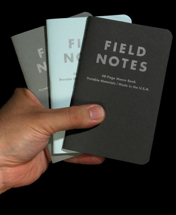 Field Notes Limited Edition Memo Books. #black #gray #blue