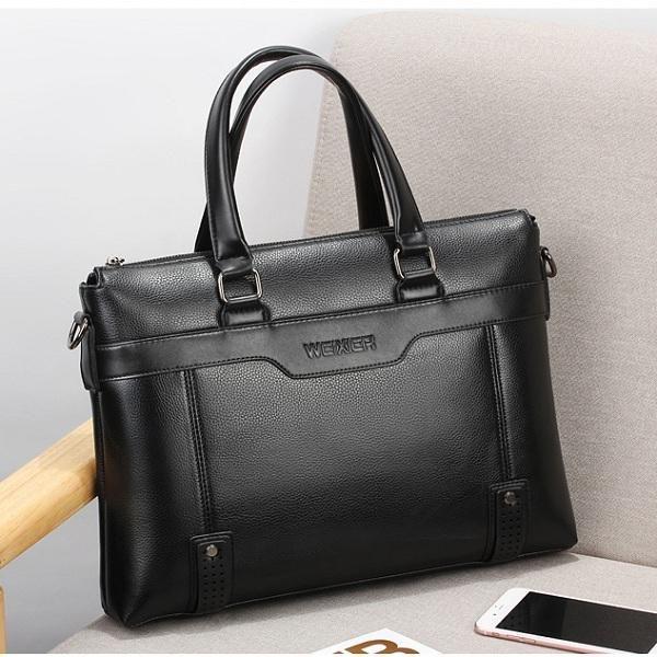 Men Quality PU Leather Simple Business Daily Handbag Laptop Bag Shoulder Bag - US$39.99  #men #women  #bags #fashion