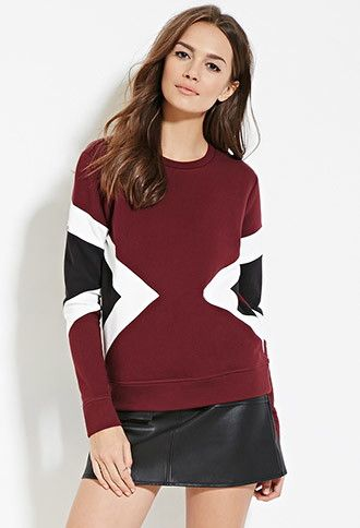Contemporary Geo-Colorblocked Sweatshirt | Forever 21 - 2000180143
