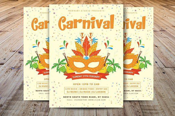 Carnival Flyer by Madhabi Studio on @creativemarket