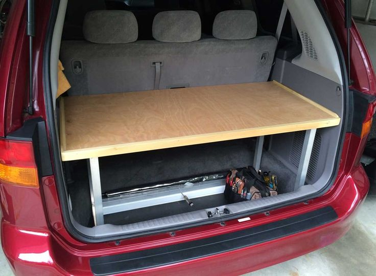 My 2002 Honda Odyssey gains a shelf and workbench | My Desultory Blog