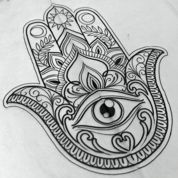 25+ best ideas about Hamsa drawing on Pinterest | Om ...