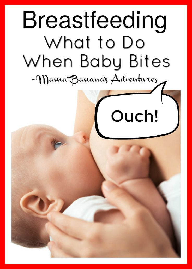 Breastfeeding Biting: What to Do When Baby Bites. I've been breastfeeding for nearly 6 years now. Breastfeeding through pregnancy and difficulties. I have been bitten and have come up with tips for helping baby learn that breasts aren't great for teething on. Here are some tips for stopping baby from biting while breastfeeding.