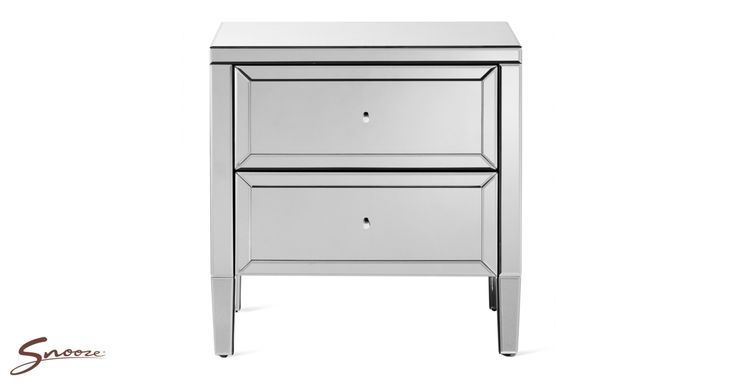 The #Snooze Reflection #bedside #table (with 2 drawer) as seen in Barry's winning room!   http://www.snooze.com.au/Bedroom-Furniture/3977/Reflection-Bedside-Table
